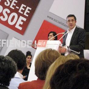 Patxi López asegura que en Euskadi no se aplicarán los recortes del Gobierno de Rajoy, mientras sea Lehendakari