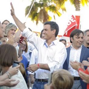 """PEDRO SÁNCHEZ: """"El PSOE es el partido de las mujeres; votar al PSOE es decir sí a la igualdad"""""""